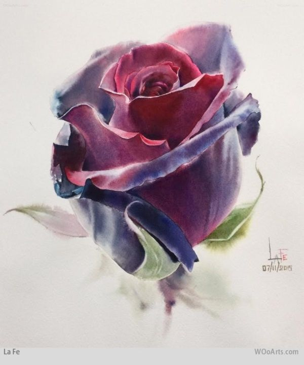 55 Very Easy Watercolor Painting Ideas For Beginners Feminatalk Watercolor Rose Tattoos Watercolor Flowers Flower Art