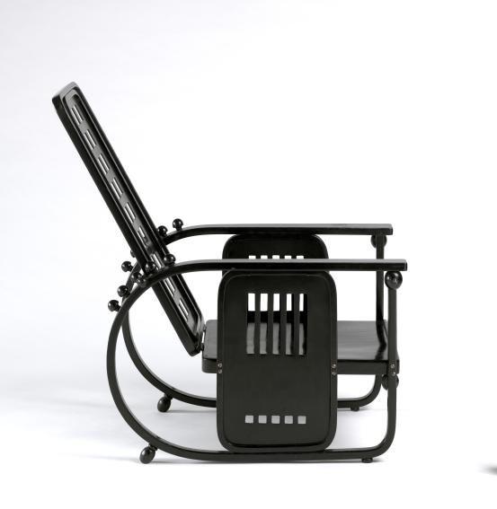 Josef HOFFMANN (designer); J. & J. KOHN, Vienna (manufacturer)  Adjustable-back chair (1908)