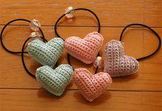 ぷっくりハートのヘアゴム の作り方|編み物|編み物・手芸・ソーイング|ハンドメイドカテゴリ|アトリエ
