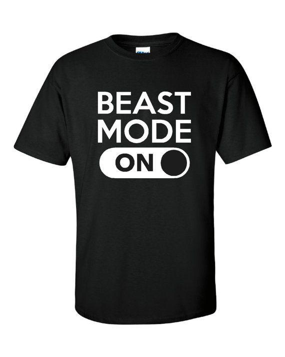 BEAST MODE Great Fitness Workout Gamers T Shirt Go INto Beast Mode Cool Shirt Gift Unisex Womans Kids
