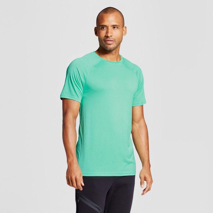 Men's Tech T-Shirt - C9 Champion Emerald Gem Green Heather Xxl, Emerald Green