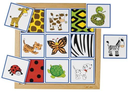--- sorteerlotto dieren en hun vacht ---Sorteerlotto's rondom dieren, ieder met een eigen thema:  Dieren en hun vacht (9 stukjes) Formaat: 34 x 34 cm (l x b).  523 075