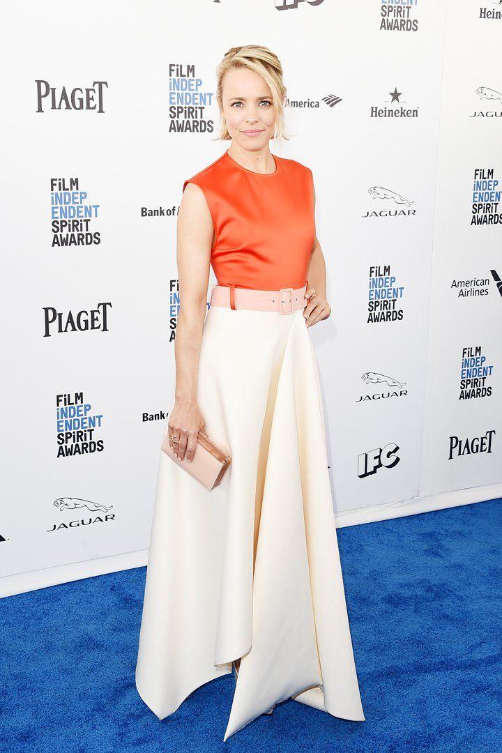 Rachel McAdams Brings Back Colorblocking in a Big Way at the Spirit Awards