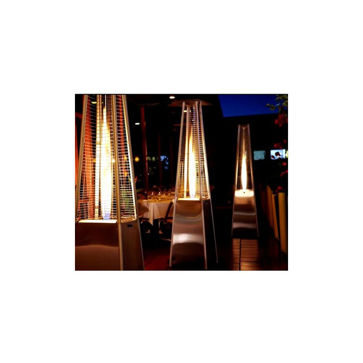 This attractively styled Tall Glass Tube Patio Heater in Stainless Steel from PrimeGlo keeps your outdoor area warm and cozy.