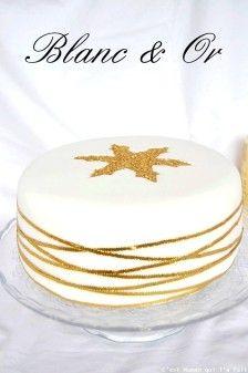 gâteau noel blanc et or (2)