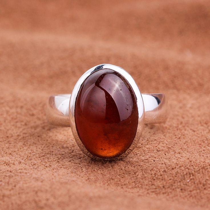 Серебро винтаж тайский серебро 925 чистого серебра природный кристалл гранат безымянный палец кольцо - аксессуары и украшения