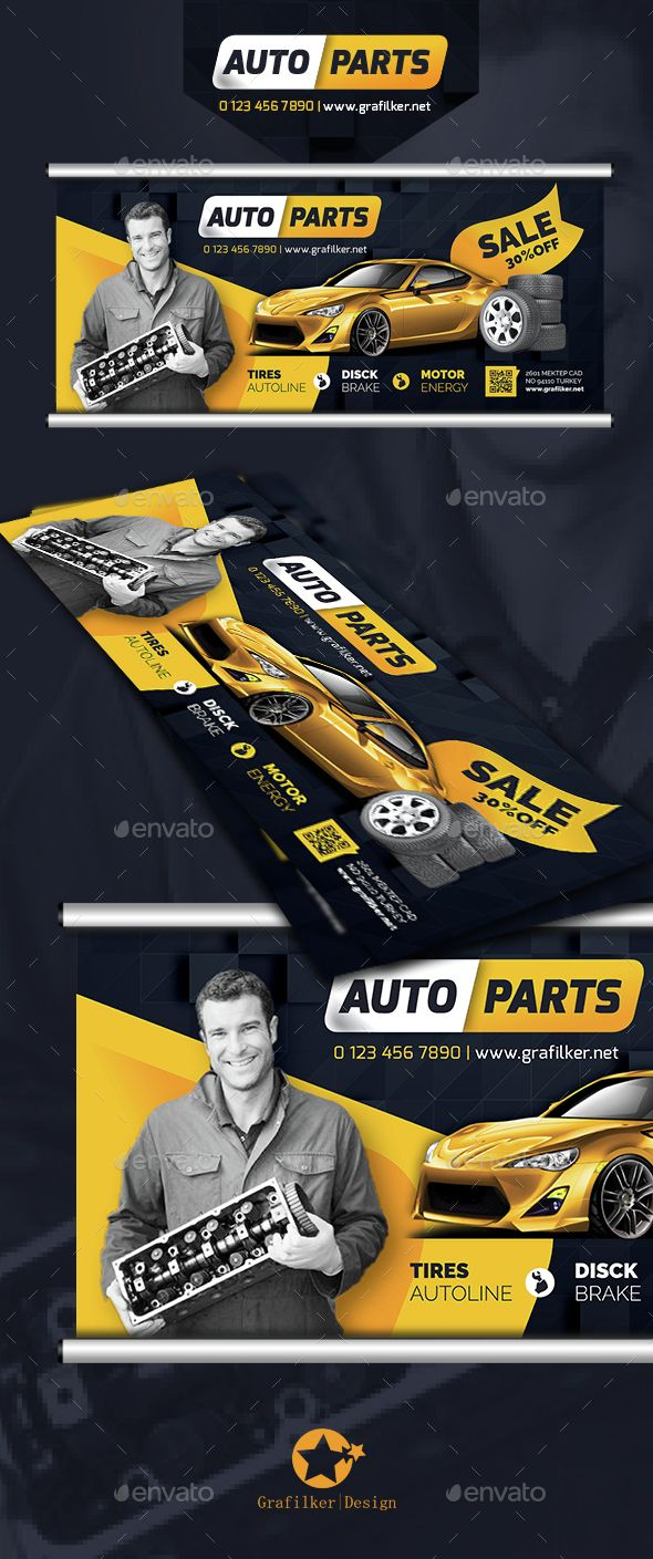 Auto Spare Parts Billboard Template PSD, InDesign INDD. Download here: http://graphicriver.net/item/auto-spare-parts-billboard-templates/14682893?ref=ksioks