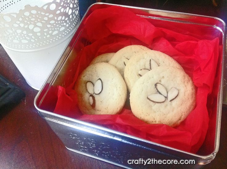 ~Chinese Almond Cookies~ A light crisp cookie with a buttery almond flavor. So classy you can even serve them at wedding and other formal functions.