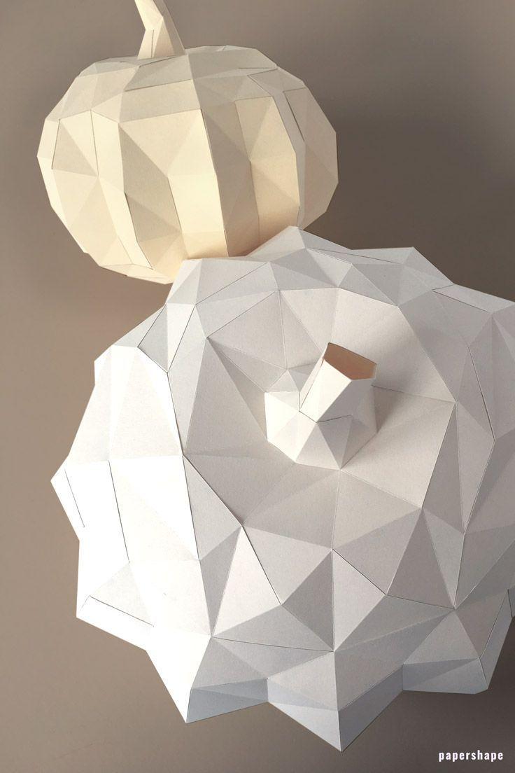 Moderner Diy Kürbis Aus Papier Basteln Mit Vorlage Paper Art