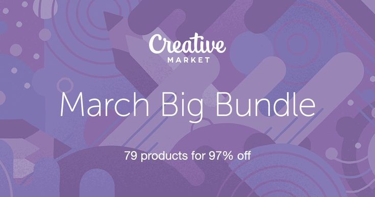 Check out March Big Bundle on Creative Market