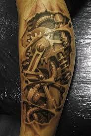 Výsledek obrázku pro mechanical tattoo sleeve