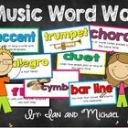 Need a bright and colorful music word wall for your music room? You'll love the cards we created!  Your download includes 48 colorful music word wa...
