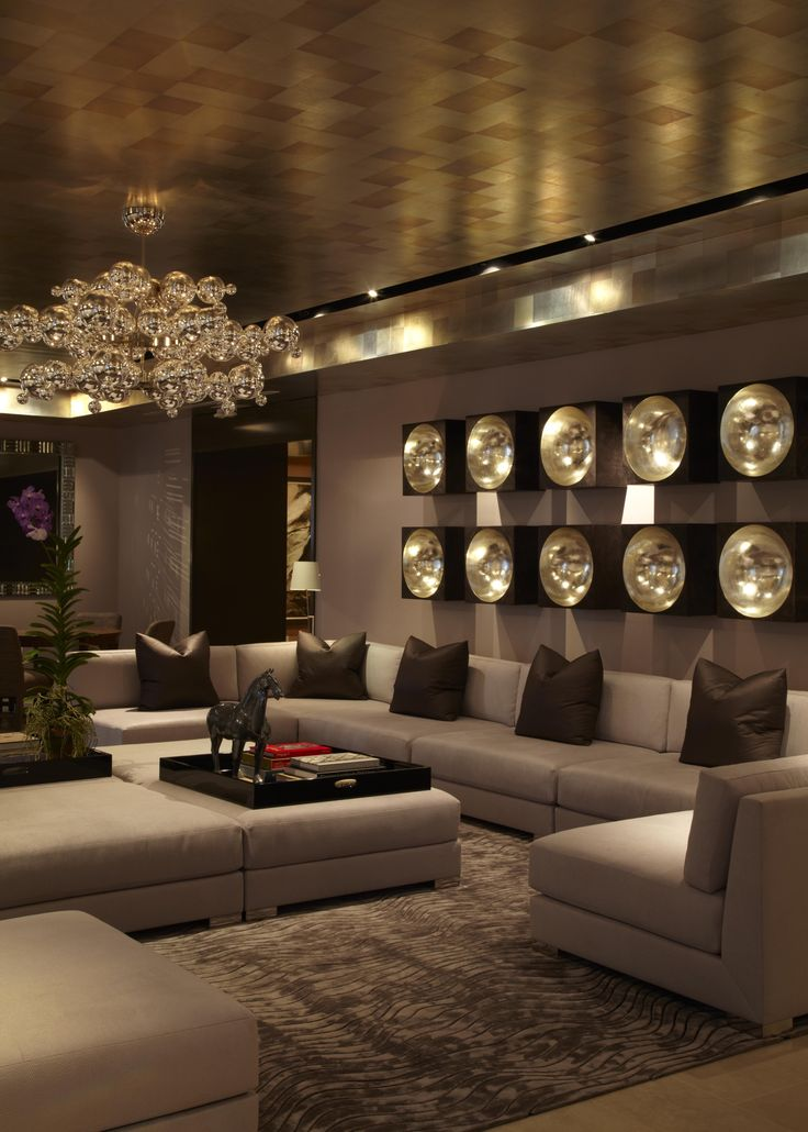 ♂ Luxury interior design Manhattan Room---look at the chandelier it's like a glowing plant, kinda cool