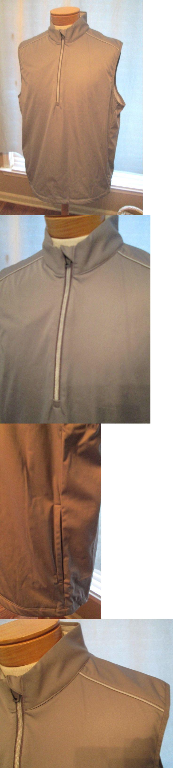 Athletic Vests 181132: Greg Norman Men S Quarter Zip Golf Vest, Gray, Xl, Nwt -> BUY IT NOW ONLY: $45.5 on eBay!