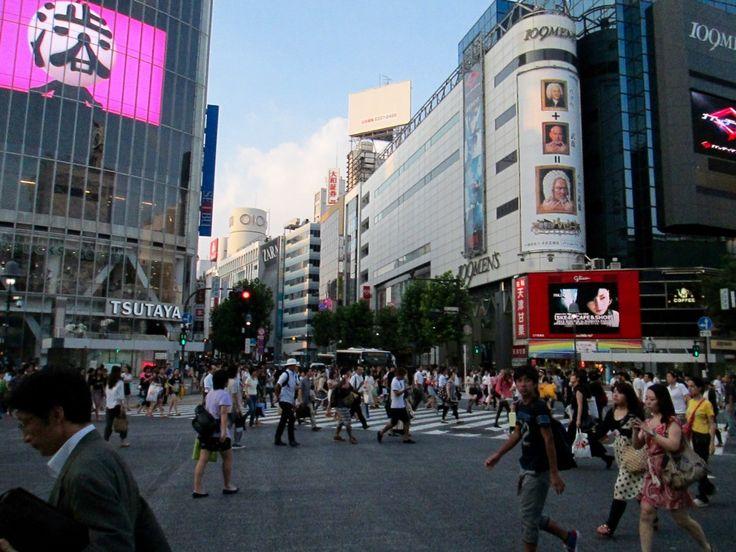 The Crowded Shibuya Crossing