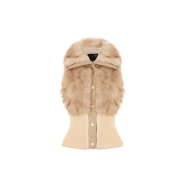 TALLY WEiJL: Short fur jacket ($46) ❤ liked on Polyvore