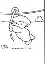 Más que 200 dibujos de niños que hacen diversas actividades - bueno para una lección de palabras de acción o verbos. En español. (¿Dónde más puedes encontrar un dibujo para colorear sobre la tirolesa?)