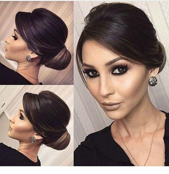 Low bun classy hairstyle,  #bun #Classy #Hairstyle #wedding&bridesmaidhairstylesclassy