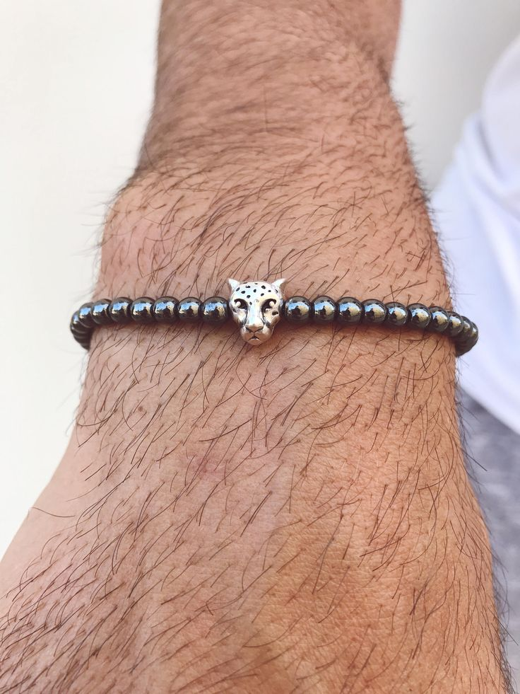 Excited to share the latest addition to my #etsy shop: Hematite Beaded Bracelet, Hematite Bracelet, Tiger Bracelet, Minimal Bracelet, Gift for Him, Made in Greece by Christina Christi Jewels. http://etsy.me/2DscuNs #jewelry #bracelet #gray #no #unisexadults #mensbracel