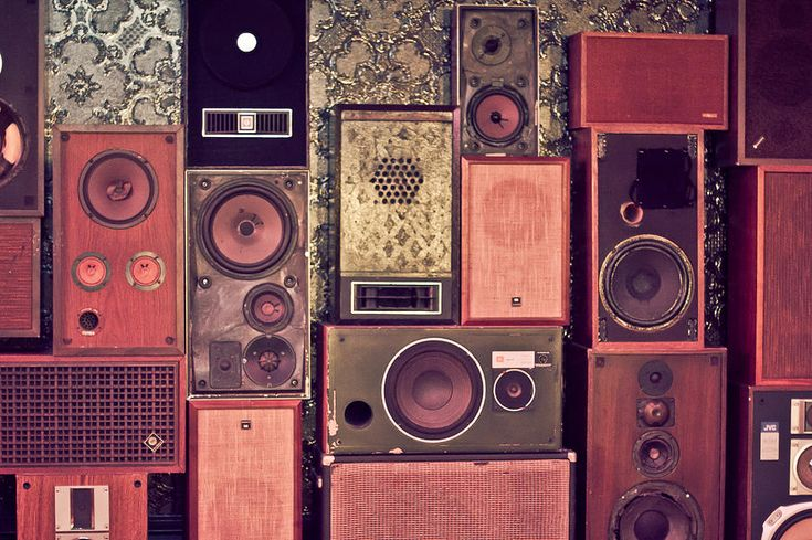 Retro Speakers Photograph  - Retro Speakers Fine Art Print