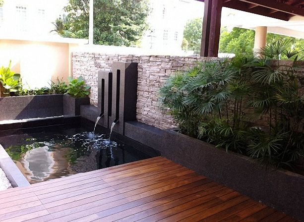 Modern koi pond google search ponds pinterest for Contemporary pond design