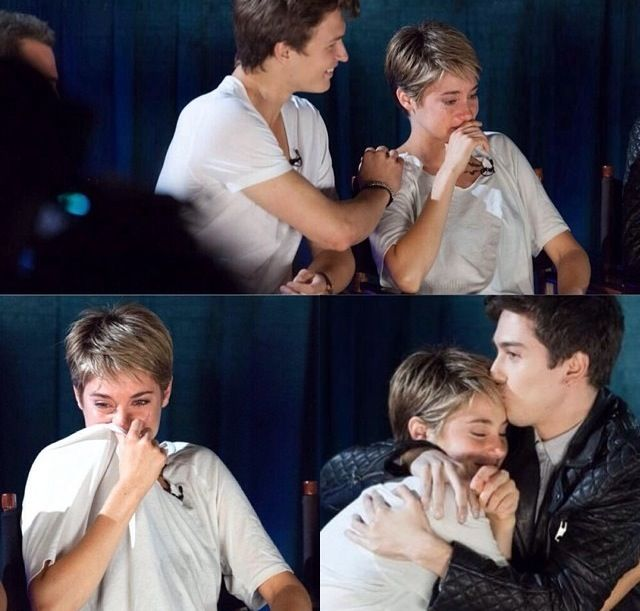 Shai crying after watching TFIOS>>>aw nat and ANSEL are so sweet