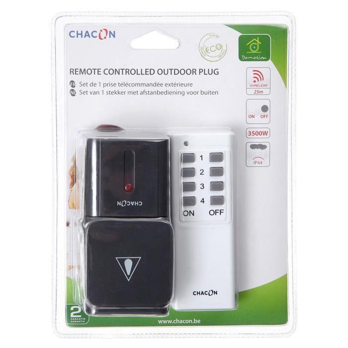 Chacon Kit 1 Prise Exterieure Telecommandee Avec Telecommande Telecommande Appareils Electriques Et Kit