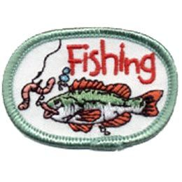 Fishing worm hook water sport crest patch merit for Fishing merit badge