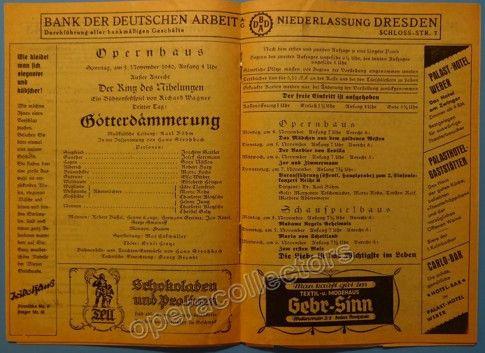 Bohm, Karl - Dresden Semperoper Program 1940