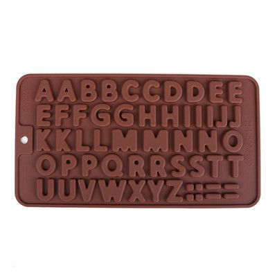 1 pc 3D Double 26 Letters Shape Or 0-9 Numbers Chocolate Molds Happy Birthday Words Cake Molds Pudding Dessert Decoration