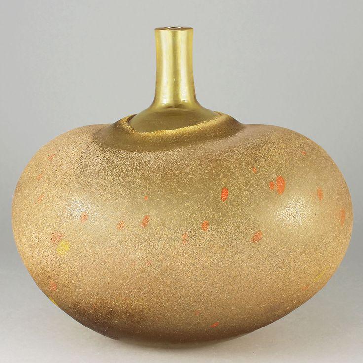 Bertil Vallien (1980s) Beautiful Bulbous Vase