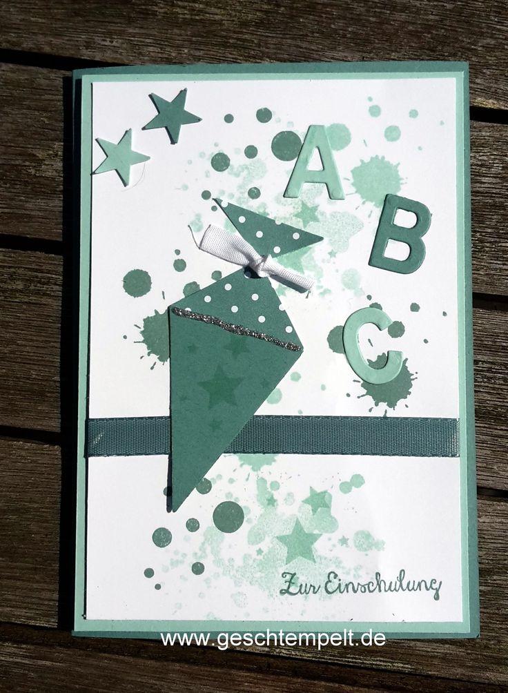 Karte zur Einschulung, stanze Tannenbaum, christbaumfestival, Gorgeous Grunge, perpetual birthday calendar, Itty Bitty, beeindruckende Buchstaben