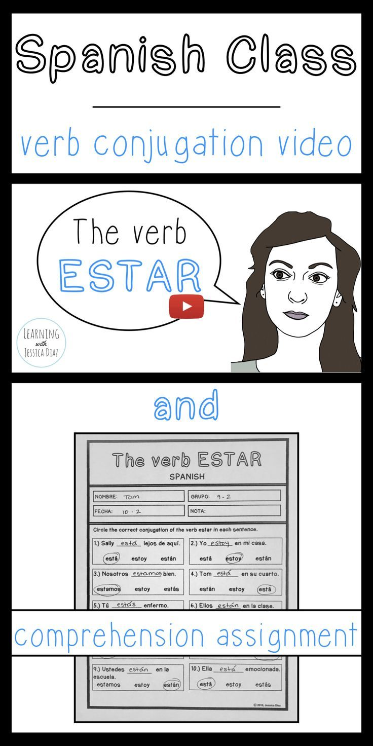This Assignment Is Perfect For The Flipped Spanish Class It Includes A Link To An Instructional Video Ab Present Tense Verbs Spanish Language Learning Spanish [ 1472 x 736 Pixel ]