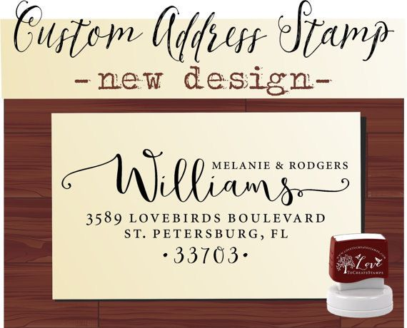 Custom Address Stamp Self Inking  Cute by lovetocreatestamps