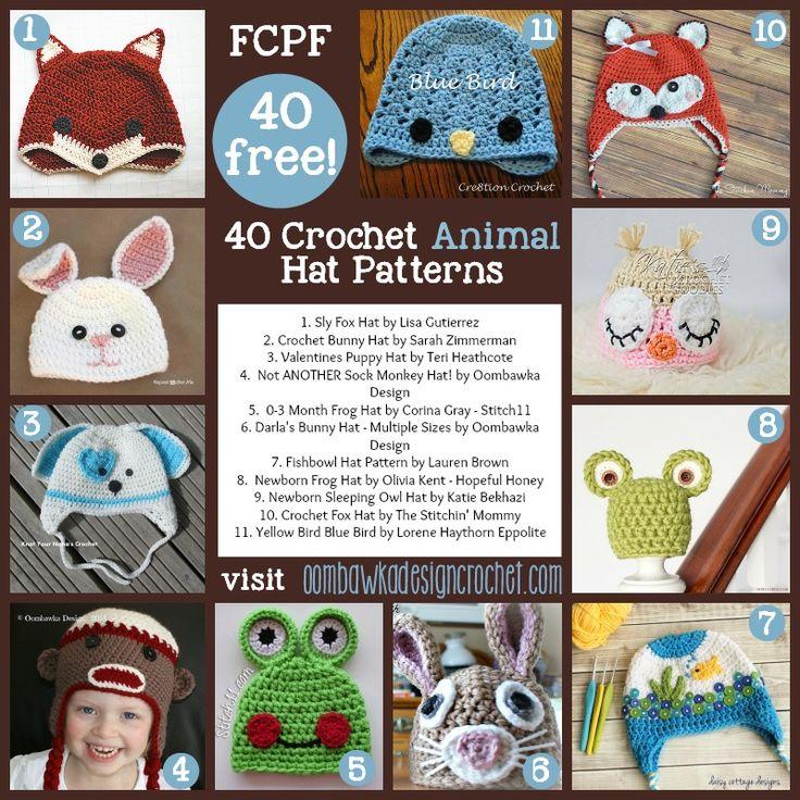 40 Fabulous and Free Crochet Animal Hat Patterns