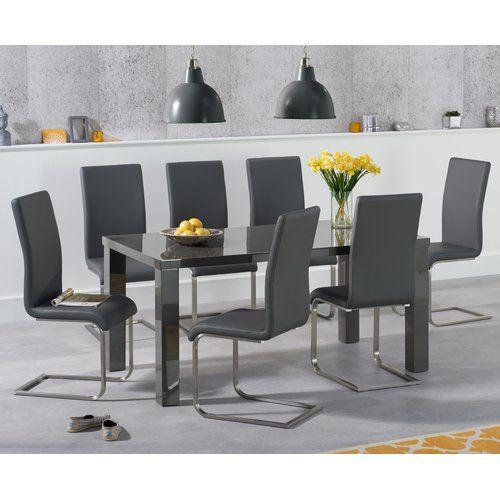 Petegem Dining Set With 8 Chairs Orren Ellis Colour Table