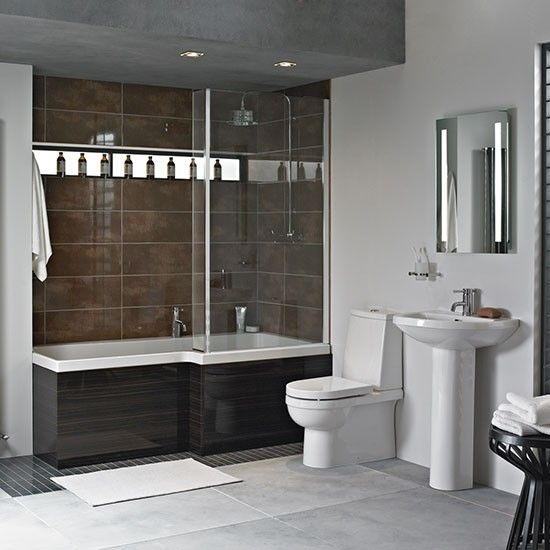 Venice square shower-bath from Heritage Bathrooms | Bathroom fittings | Bathroom | PHOTO GALLERY | Ideal Home | Housetohome.co.uk