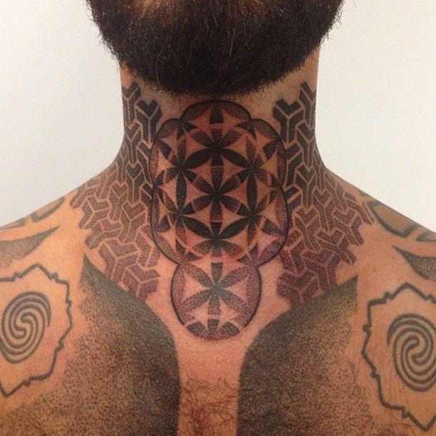 "awesome Neck  Sleeve - Trafficantidarte.com on Instagram: ""#tattoo #tribale #tribalemoderno #trafficantidarte #mandala #marcogaldo #moderntribal #girlwithtattoo #galdomarco #puntinato #dotwork #dot…"""