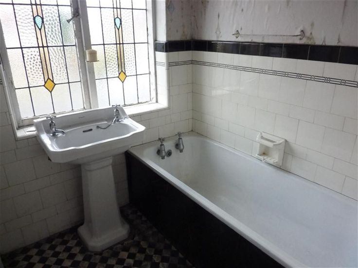 This is the original bathroom from a 1930's semi detached home we have sold. The window is original. It's been very well cared for.