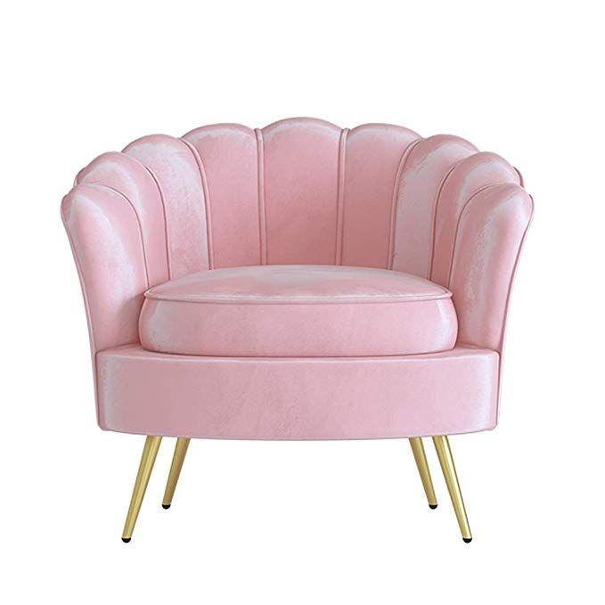 Amazon Com Chx Single Sofa Chair Chair Bedroom Small Sofa Balcony Single Chair C Color Pink Kitchen Dining Small Sofa Single Chair Chair