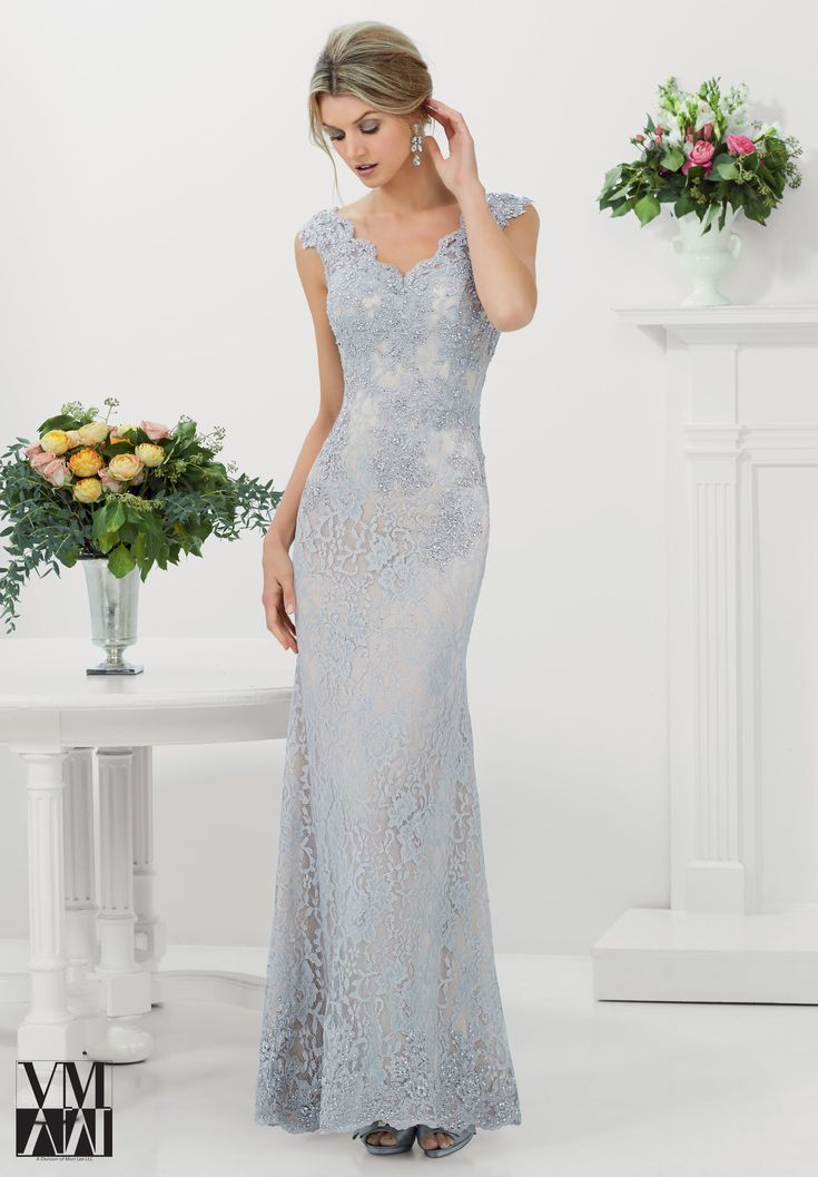 Evening Gowns / Dresses Style 71116: Stretch Lace with Beaded Appliques and Edging http://www.morilee.com/socialocassion/vmcollection/71116