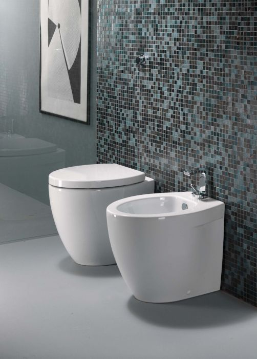 Back-to-wall Bidets - POPPY back-to-wall bidet 38.5 x 53cm - Saneux Website
