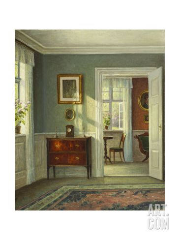An Interior Art Print by Hans Hilsoe at Art.com