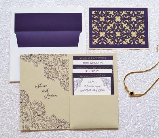 Indian-Inspired Wedding Invitations