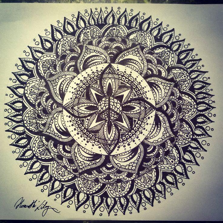 Peace mandala drawing