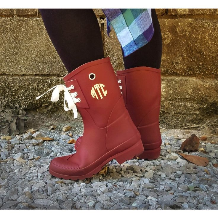 Womens Monogrammed Rain Boots ~ Christmas Gift for Wife, Girlfriend