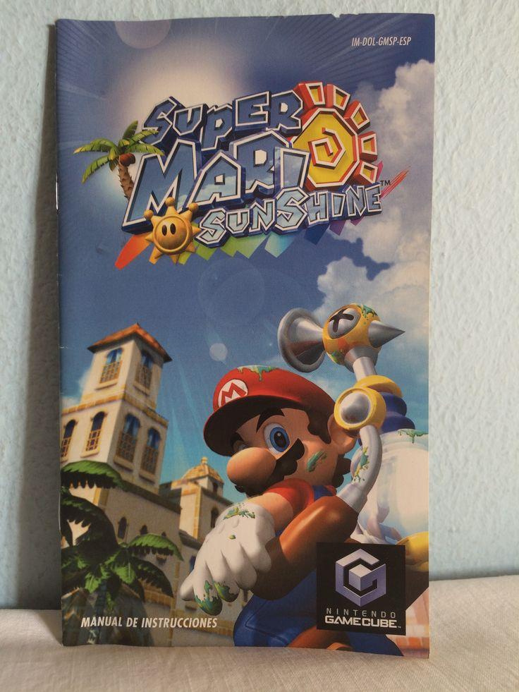 Super Mario Sunshine manual.