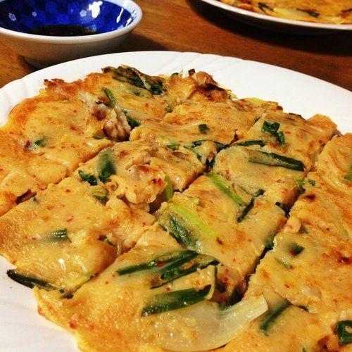 キムチたっぷり!韓国風チヂミの作り方