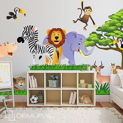 kinderzimmer tapete safari bibkunstschuur. Black Bedroom Furniture Sets. Home Design Ideas