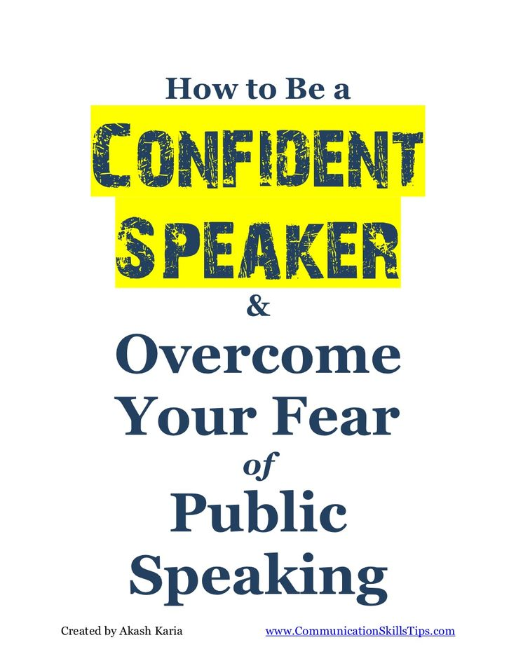 overcoming fear of speaking Fear of public speaking is the most common of all phobias it's a form of performance anxiety in which a person becomes very concerned that he or she will look visibly anxious, maybe even have a panic attack while speaking.